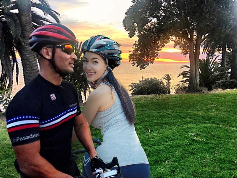 New homeowners biking in San Pedro, CA