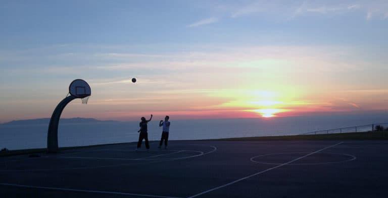 Outdoor basketball court San Pedro, CA