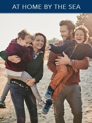 Family on the beach at San Pedro, CA