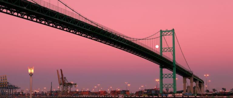 Full Moon Vincent Thomas Bridge
