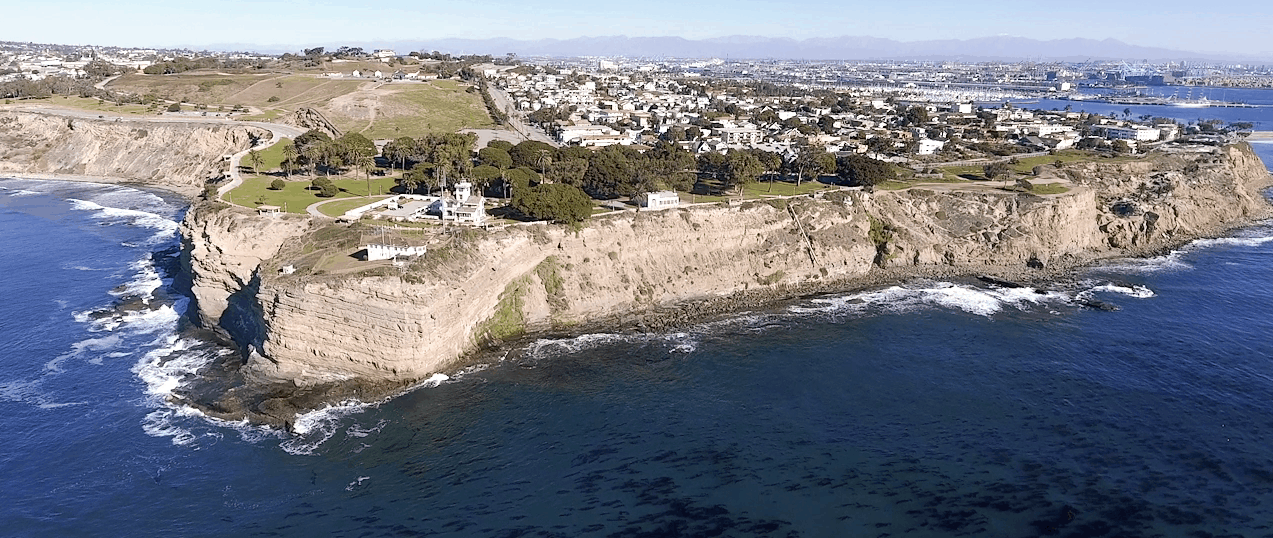 Point Fermin Park from above